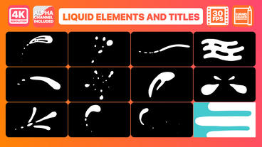 Liquid Shapes Premiere Pro Template