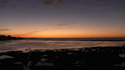 Sunset on the west coast of Okinawa Footage