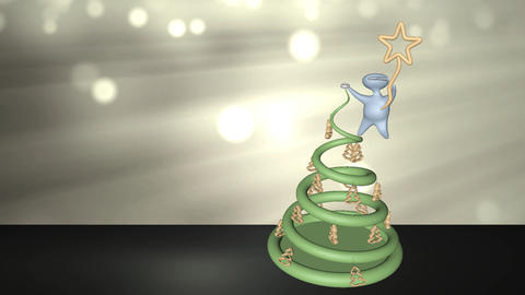 Merry Christmas with Christmas Tree HD Video Animation