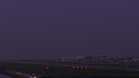 Dusk runway (Okinawa Naha Airport) Footage
