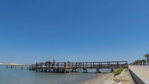 Pier for People to Have a Mud Bath GIF