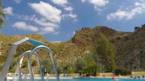 Pool Massage Spa Resort Next to Big Mountain Footage