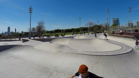 Skatepark Timelapse On Nice Day GIF