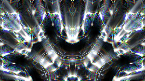 Abstract Shining Silver Liquid Motion Flower VJ Loop Footage