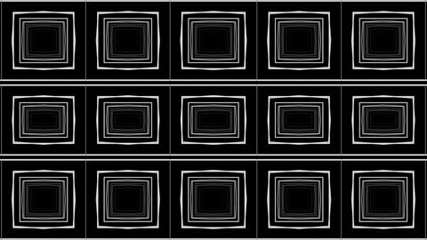 Abstract Pulsing White Shining Squares Background Wall VJ Loop Footage