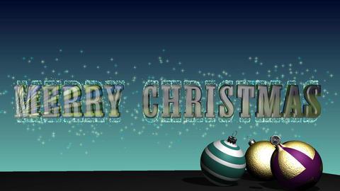 Merry Christmas with balls HD video Animation