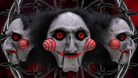 Scary Clown Mask VJ Loop Videos animados