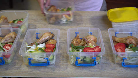 Healthy Meal Prep Containers With Chicken And Vegetables Live Action