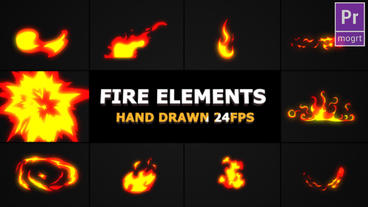 Hand Drawn FIRE Elements Motion Graphics Template