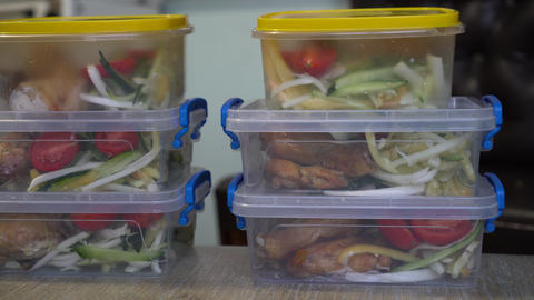 Plastic Meal Prep Containers. Bento Lunch Box Live Action