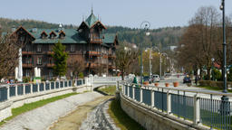 Krynica Zdroj the biggest spa town in Poland, called the Pearl of Polish spa Footage