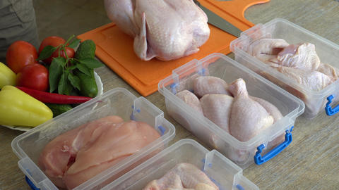 Money Saving By Carving A Whole Raw Chicken Into Parts Live Action