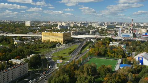 St. Petersburg skyline time lapse Archivo