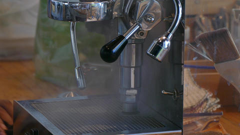 Coffee Machine Brewing Hot Fresh Coffee stock footage