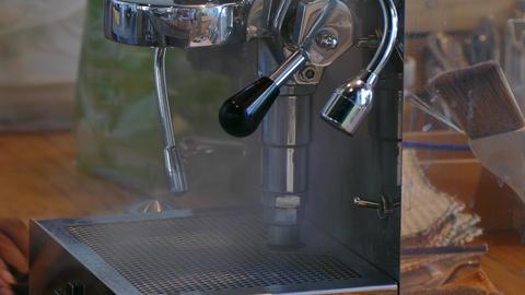 Coffee machine brewing hot fresh coffee Footage