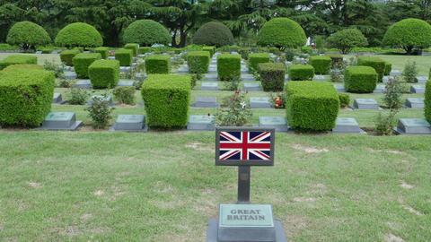 British soldier grave in UN memorial cemetery in Korea Korean war 영상물