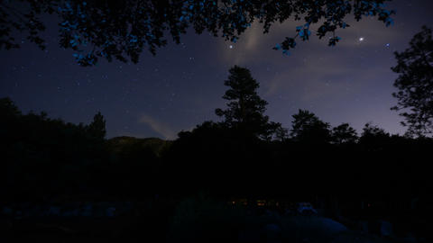Night Sky Timelapse 01 Dolly Panning L Campfire Live Action