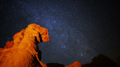 Milky Way 05 Timelapse Dolly Mojave Desert California_1 Footage