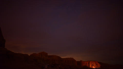 Milky Way Galaxy 62 Timelapse Mojave Desert Red Rock Canyon Footage