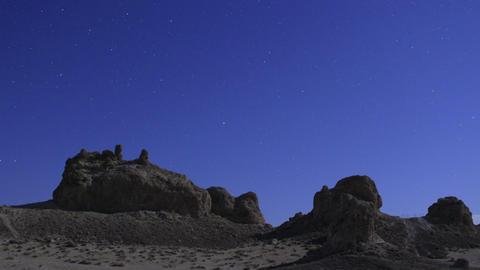 Trona Pinnacles LM38 Pan R Timelapse Night Sky Mojave Desert Footage