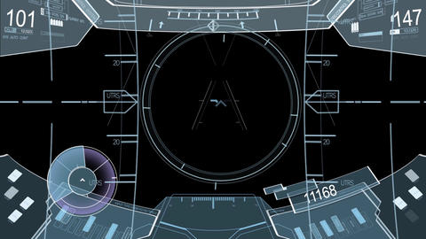 Science fiction target locking user interface design elements HUD After Effects Template