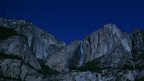 Yosemite Falls Stars 04 Timelapse Tilt Down Footage
