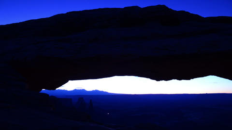 Canyonlands Night to Sunrise 02 Mesa Arch Footage