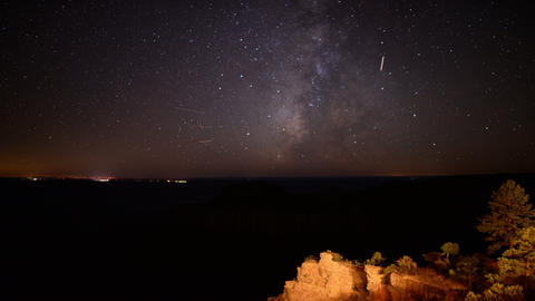 Grand Canyon Stars 08 Milky Way Time Lapse North Rim Footage