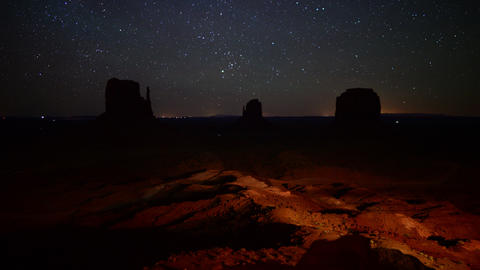 Monument Valley Milkyway 02 Time Lapse Dolly R and Up Footage