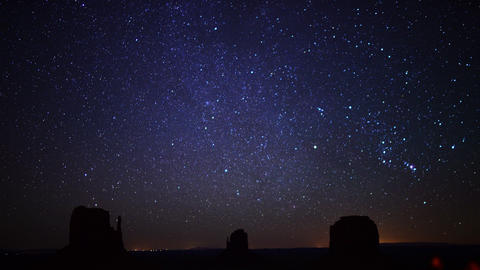 Monument Valley Milkyway 06 Time Lapse Dolly R Footage