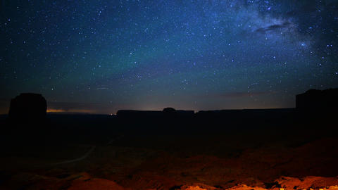 Monument Valley Milkyway 15 Time Lapse Stars Footage