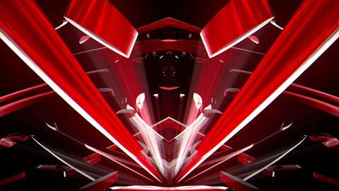 Red Crystal Flower Uprising Cosmic Energy VJ Loop Footage