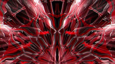 Shining Flower Red Sparkle Waves VJ Loop Footage