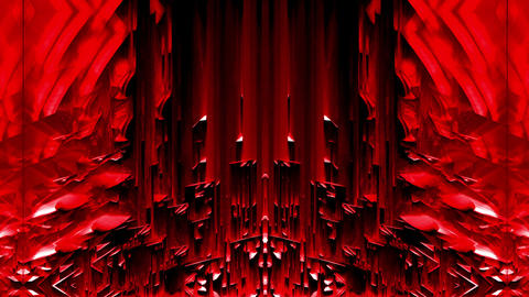 Red Liquid Glitching Energetic Substance With Shining Sparkles VJ Loop Live Action