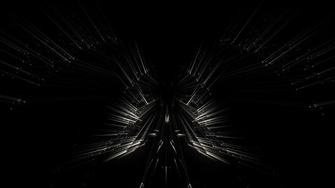SIlver Shining Rays Butterfly Black Cosmic Background VJ Loop Footage