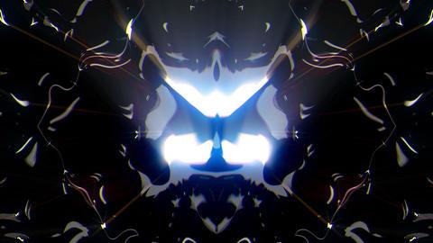 Liquid Silver Lights Black Background VJ Loop Live Action