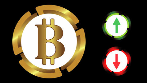 Exchange rate on black Animation