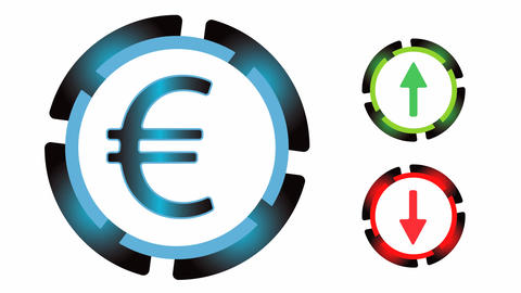 Exchange rate on white Animation