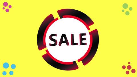 Sale icon on white Animation