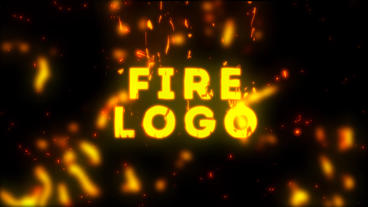 Cartoon Fire Logo After Effects Template