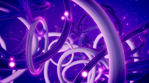 Abstract structure from interwoven rings Animation