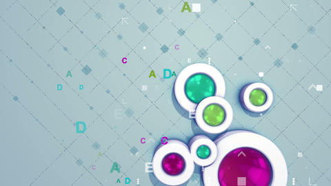 Bright background with diamond cylinders Animation