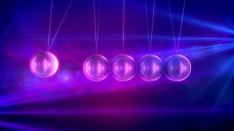 Horizontal steel beads pendulum swaying Animation
