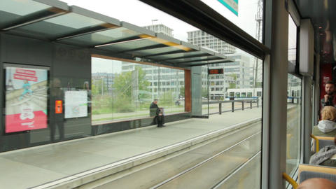 The City Tram In Europe Live Action