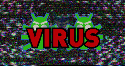 Virus attack pixel v2-4K Animation
