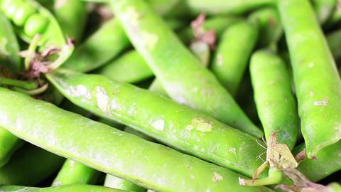 Green peas. Pea shells Live Action