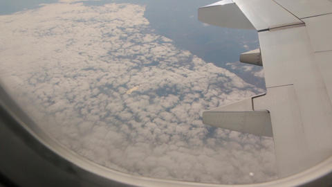 View From Plane Above Clouds Footage