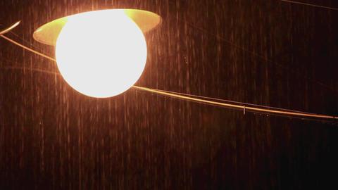 rain street lamp Footage