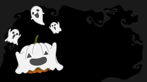 Halloween pumpkin jack o lantern costume set ghost spooky concept idea Animación