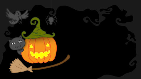 Halloween pumpkin jack o lantern costume set witch concept idea illustration CG動画素材